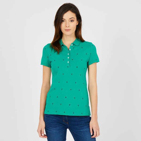Anchor Motif Classic Fit Polo - Vibe Green