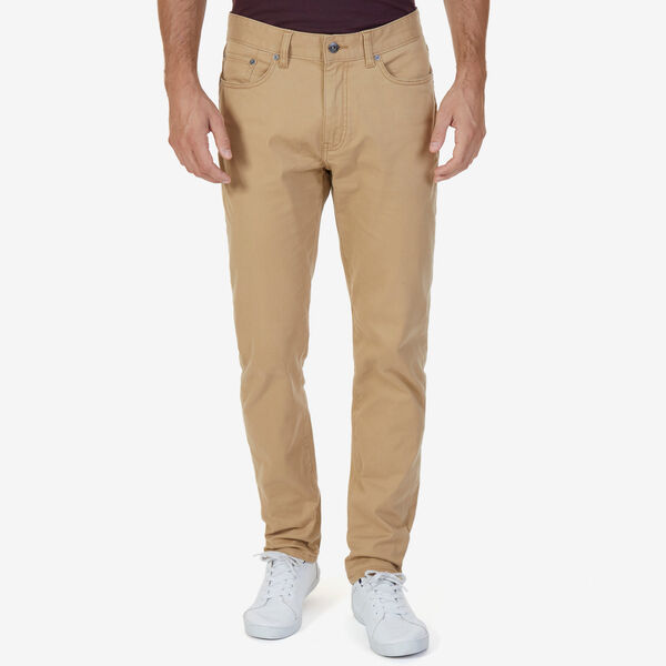 SLIM FIT STRETCH 5-POCKET PANTS - Raw Umber