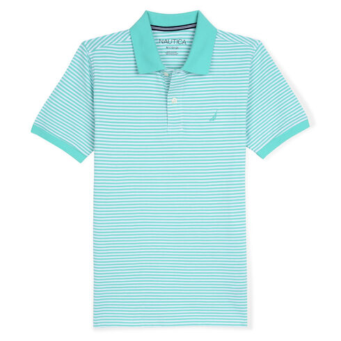 Boys' Anchor Stretch Deck Polo (8-20) - Hunter Green