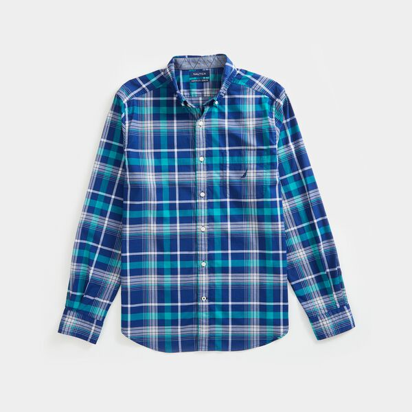 CLASSIC FIT PLAID SHIRT - Blue Depths