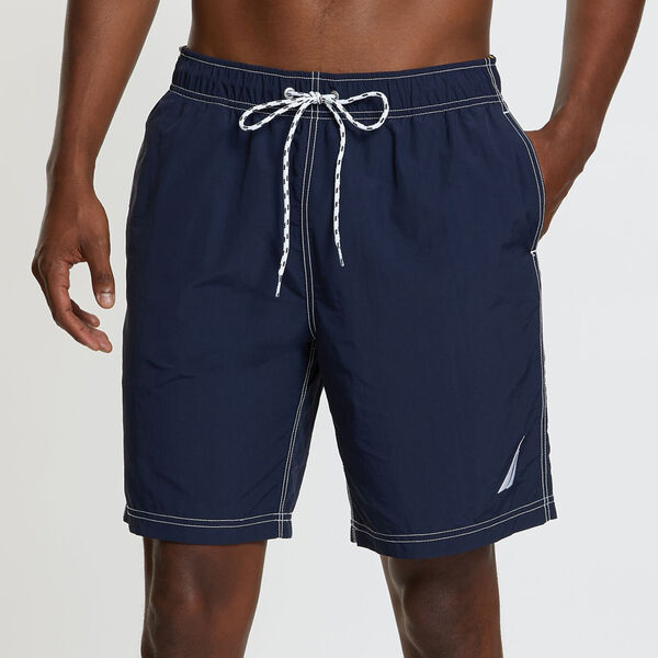 Big & Tall Anchor Full-Elastic Swim Trunks - Navy