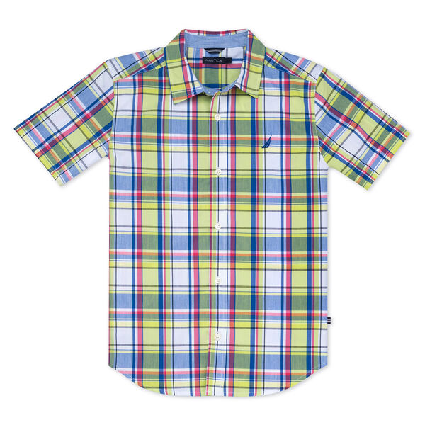 BOYS' LIAM WOVEN SHIRT IN MULTICOLOR PLAID - Tillman Bay