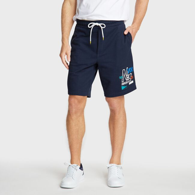 CLASSIC FIT FRENCH TERRY SHORT,Navy,large