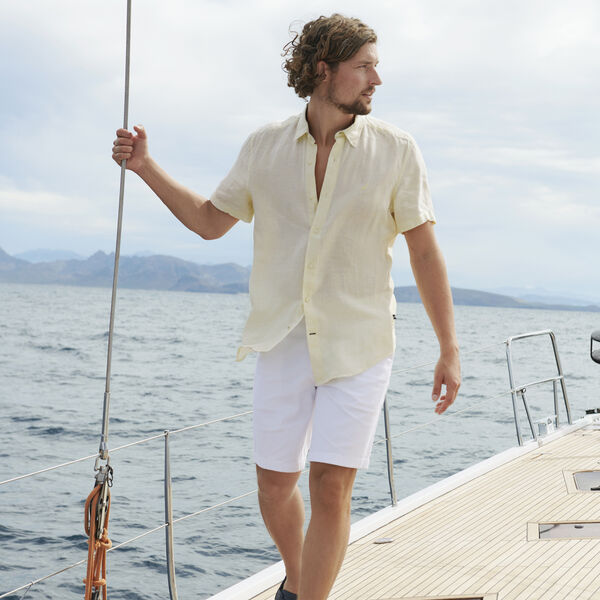 CLASSIC FIT LINEN SHIRT - Sunshine