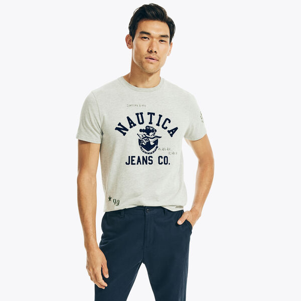 NAUTICA JEANS CO. HERITAGE GRAPHIC T-SHIRT - Grey Heather