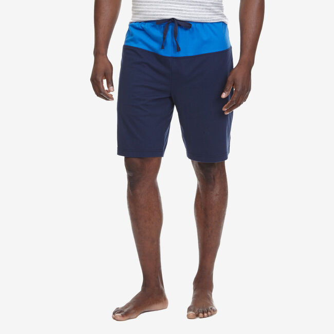 Colorblock Jersey Sleep Shorts,Peacoat,large