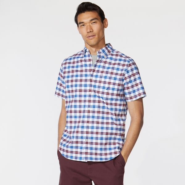 CLASSIC FIT STRETCH PLAID OXFORD SHIRT - Zinfandel