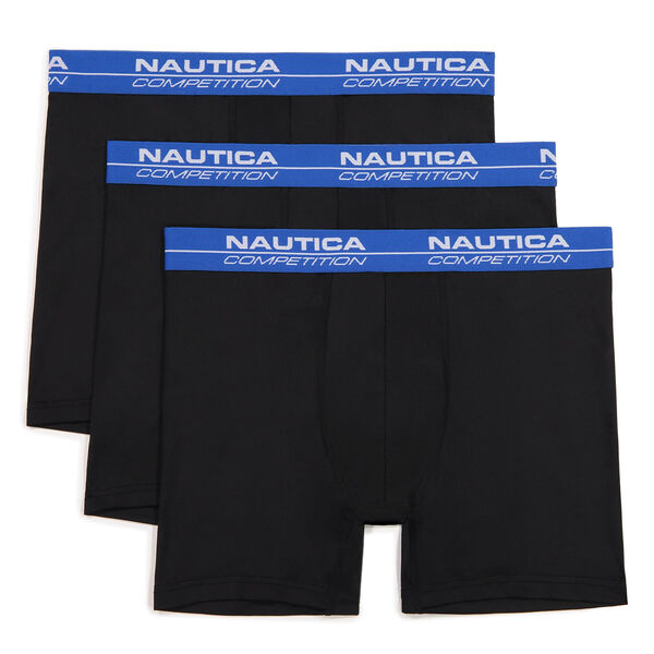 COMPETITION PERFORMANCE BOXER BRIEF, 3-PACK - Black