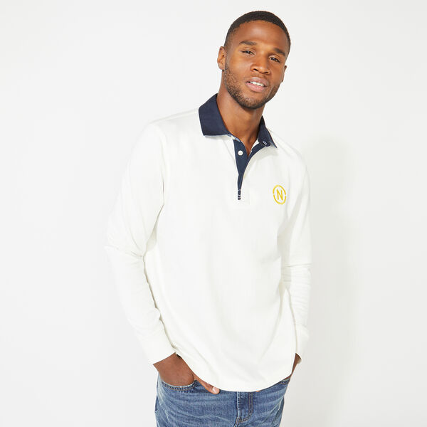 NAUTICA JEANS CO. BACK GRAPHIC LONG SLEEVE RUGBY - Sail White