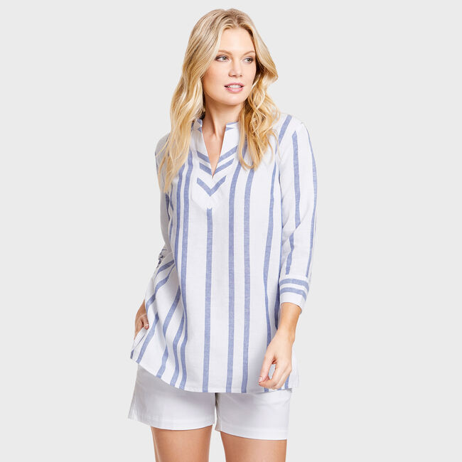 c55bbaad9930 Shaw Yarn Dyed Stripe Tunic Cover-Up