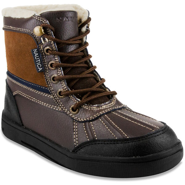 Lockview Lace-Up Boots - Chocolate