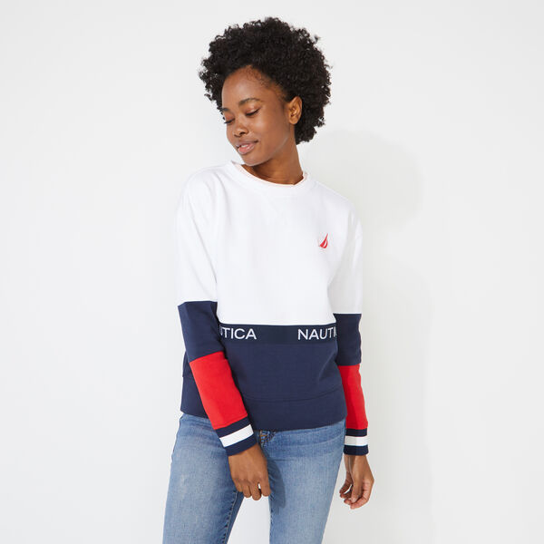 COLORBLOCK LOGO SWEATSHIRT - Bright White