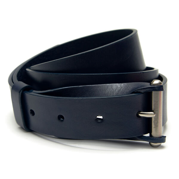 Classic Leather Belt - Ice Blue