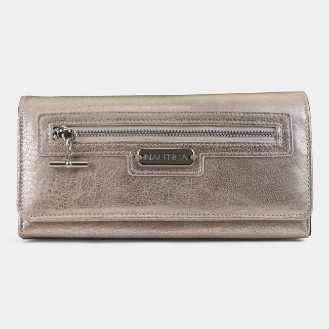 ABOVE BOARD BOXED CONTINENTAL WALLET,Black Heather,large