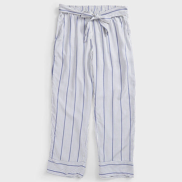 STRIPE SIDE TIE PANTS - Bright White