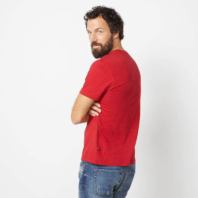 NAUTICA JEANS CO. LOGO GRAPHIC T-SHIRT,Nautica Red,large