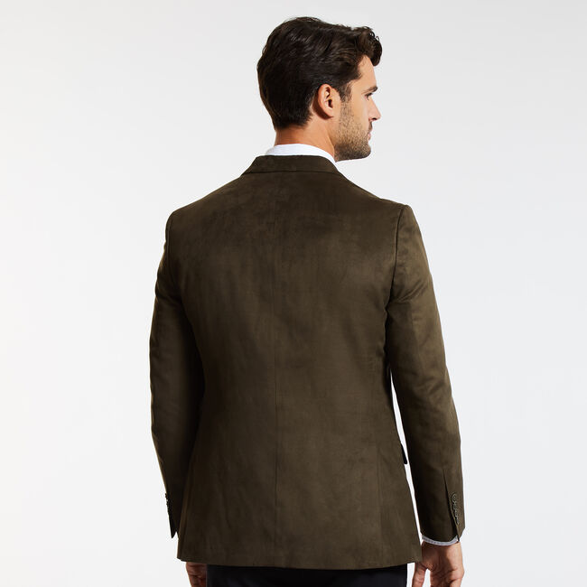 The Branford Ultra Suede Jacket,Brown,large