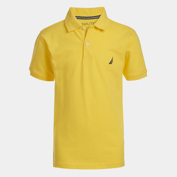 LITTLE BOYS' CLASSIC DECK POLO (4-7) - Marigold