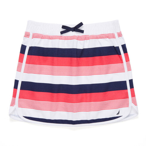 Little Girls' Bold Stripe Skirt (4-6X) - Buoy Red