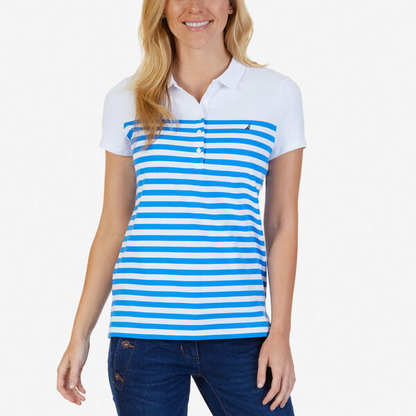 Striped Classic Fit Polo Shirt - Naval Blue
