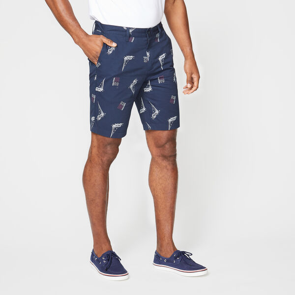 "9.5"" SLIM FIT BOAT 83 PRINT SHORT - Navy"
