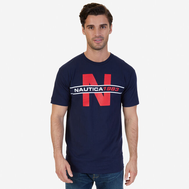 'N' 1983 Graphic T-Shirt,Navy,large