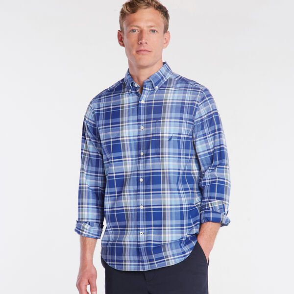 CLASSIC FIT POPLIN SHIRT IN PLAID - Limoges