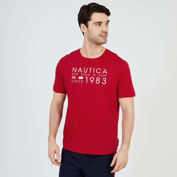 Sun, Sand & Surf Sleep T-Shirt - Nautica Red