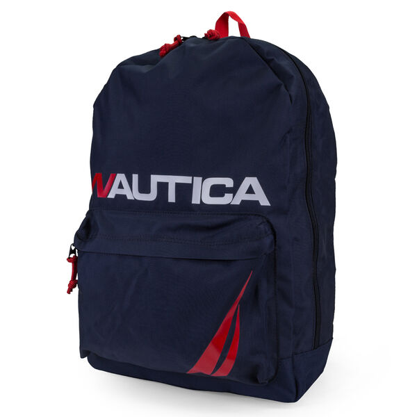 NAUTICA J-CLASS LOGO BACKPACK - Pure Dark Pacific Wash