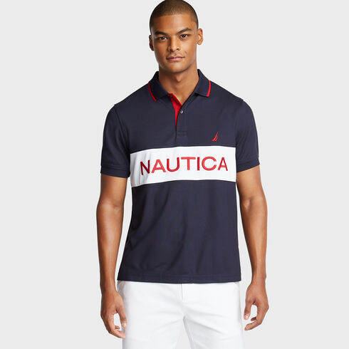 Colorblock Performance Polo - Navy
