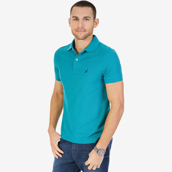 Short Sleeve Performance Deck Polo Shirt  - Emerald Seas
