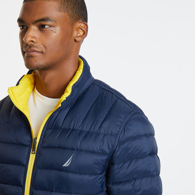 Endeavour Quilted Reversible Jacket,Buoy Yellow,large