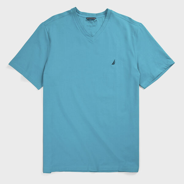 Big & Tall Short Sleeve V-Neck T-Shirt - Gulf Coast Teal