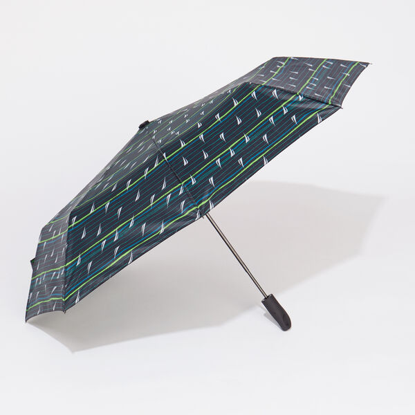 MULTICOLOR STRIPE UMBRELLA - Kelly Green