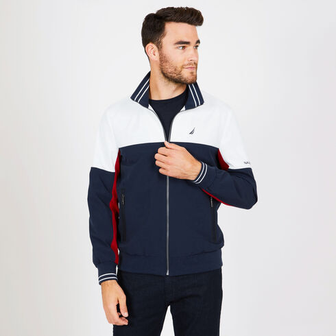 Lightweight Colorblock Jacket - Navy