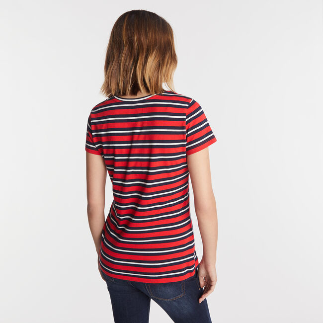 STRIPE SCOOP NECK,Tomales Red,large