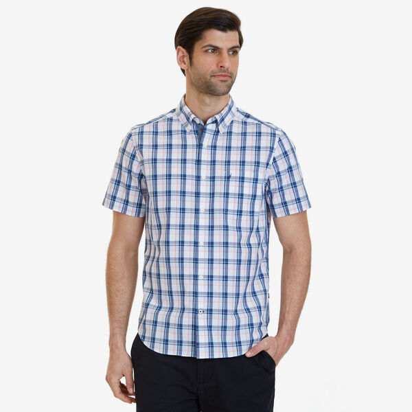 Big & Tall Plaid Classic Fit Button Down - Pale Coral