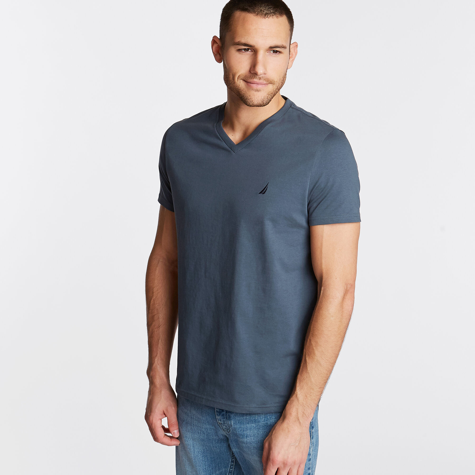 Nautica-Mens-V-Neck-Short-Sleeve-T-Shirt thumbnail 55