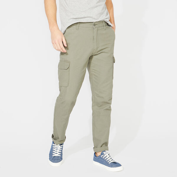 CLASSIC FIT CANVAS CARGO PANTS - Hillside Olive