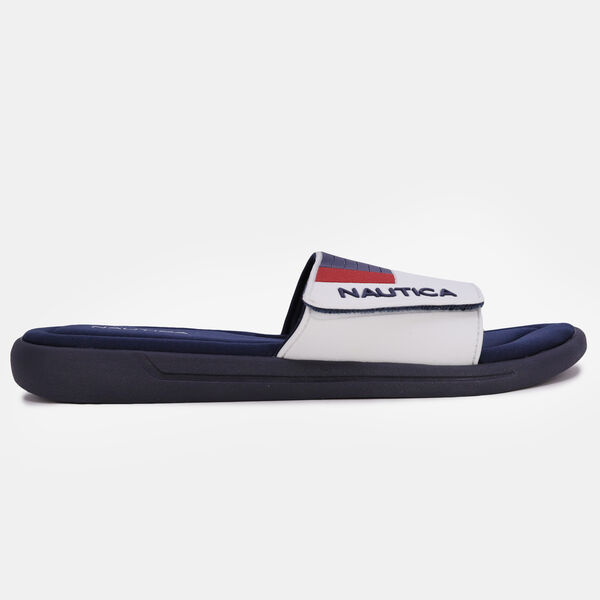 EMBOSSED COLORBLOCK SLIDE SANDAL - Nautica Red