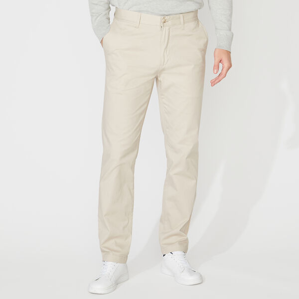 SLIM FIT STRETCH TWILL PANTS - True Stone