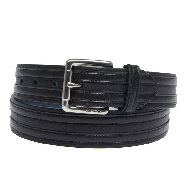 Double Overlay Casual Belt - True Black