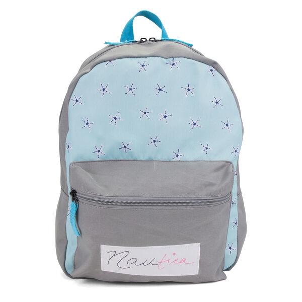 GIRLS' PRINTED BACKPACK - Gunmetal Grey