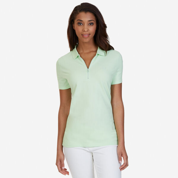 Zipper Polo Shirt - Green Spruce