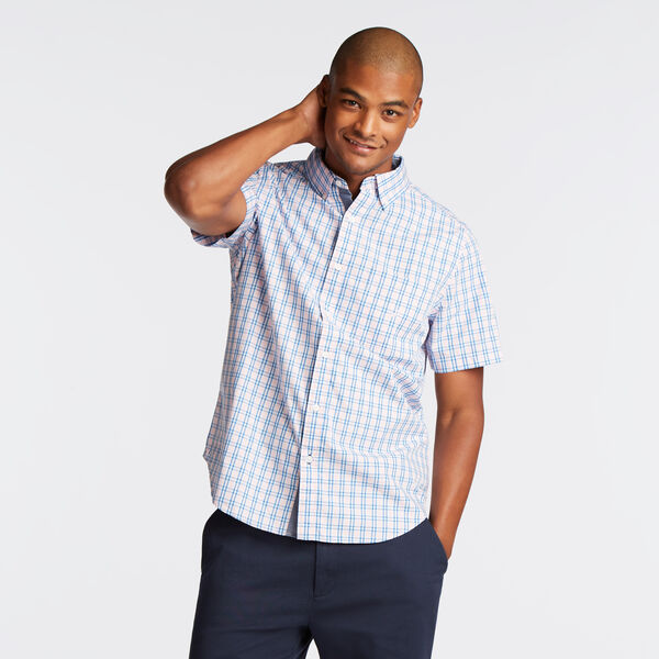 CLASSIC FIT SHORT SLEEVE SHIRT IN ORCHID PINK PLAID - Orchid Pink