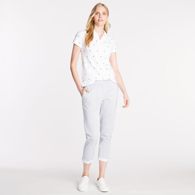 CLASSIC FIT CHINO PANT IN STRIPE,Bright White,large