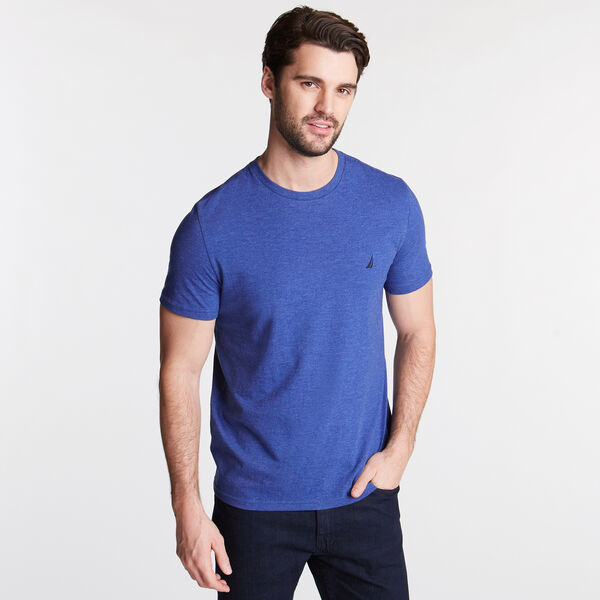 HEATHERED CREWNECK T-SHIRT - Stellar Blue Heather