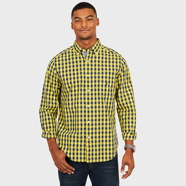Long Sleeve Classic Fit Gingham Shirt - Buoy Yellow