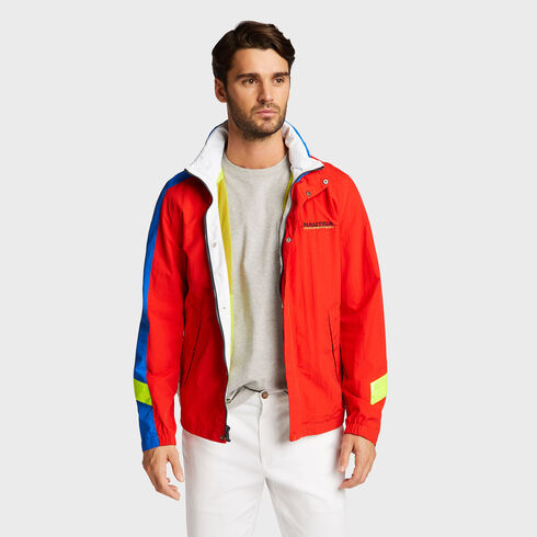 Competition Colorblock Bomber Jacket - Firey Red