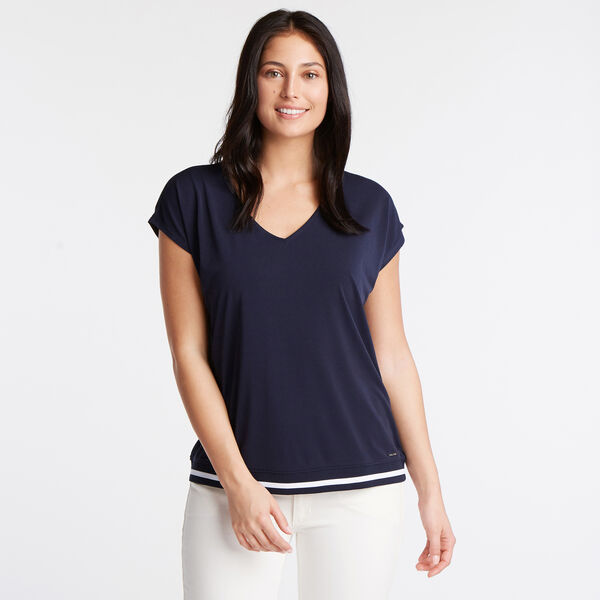 Jersey Crepe Blouse - Deep Sea